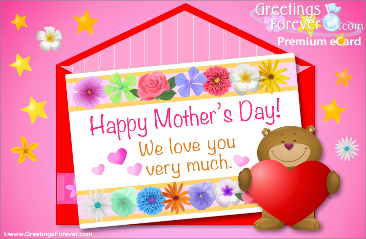 Ecard - Happy Mother's Day with little bear