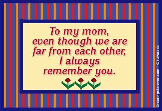 Tarjeta - To my mom...