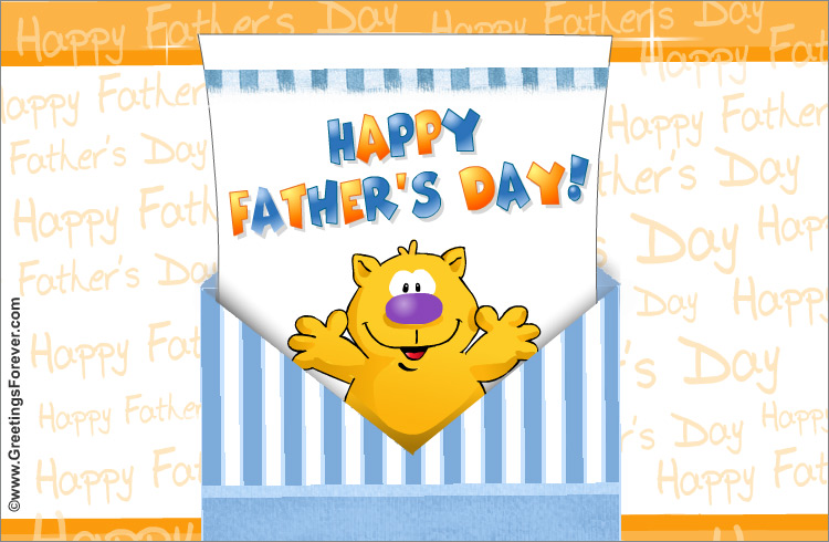 Ecard - Surprise envelope for a special father