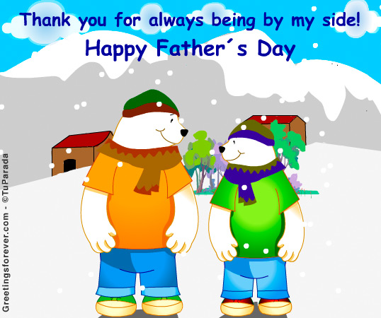 Ecard - By my side (from a son).