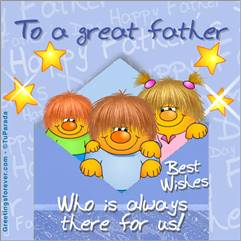 To a great father.