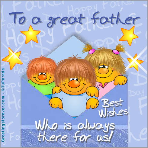 Ecard - To a great father.