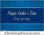 Happy Father´s day in blue