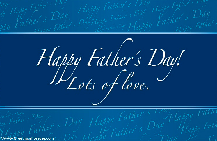 Ecard - Happy Father´s day in blue