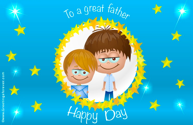 Ecard - Father´s day animated ecard