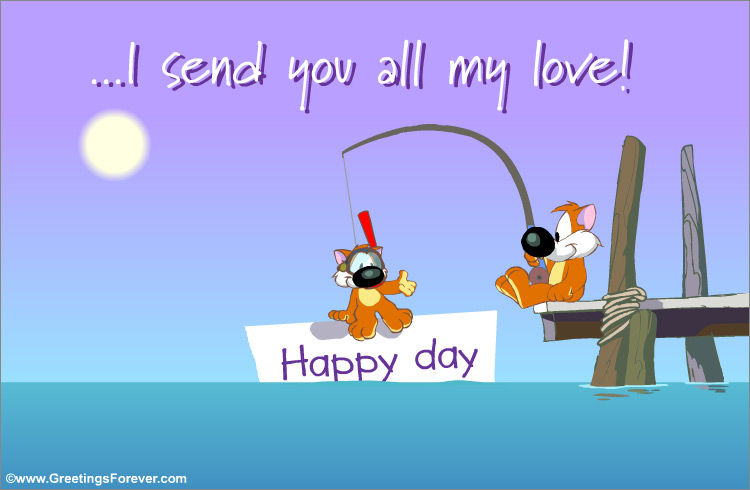 Ecard - I send you all my love.