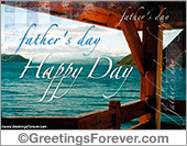 Happy father's day with lake
