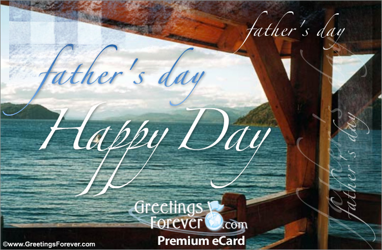 Ecard - Happy father's day with lake