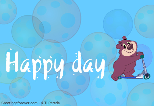 Ecard - Happy day with little bear