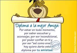 Tarjetas, postales: Diplomas