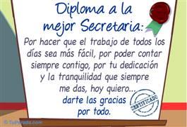 Diploma a la mejor secretaria