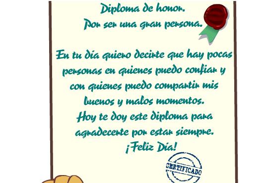 Para Una Gran Persona Diplomas Especiales Tarjetas