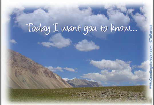Ecard - Today I want you to know...