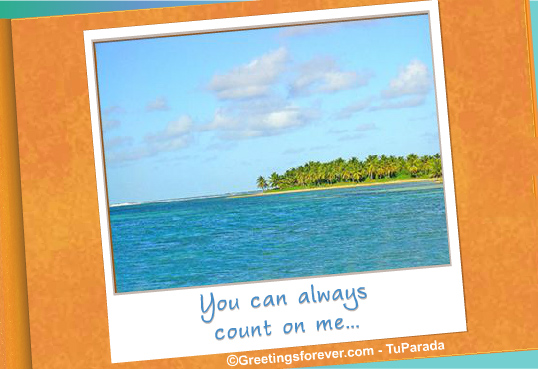 Ecard - You can always count on me.