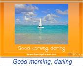 Good morning, darling