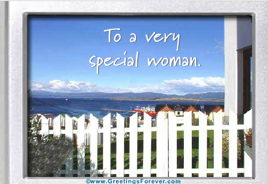 To a very special woman