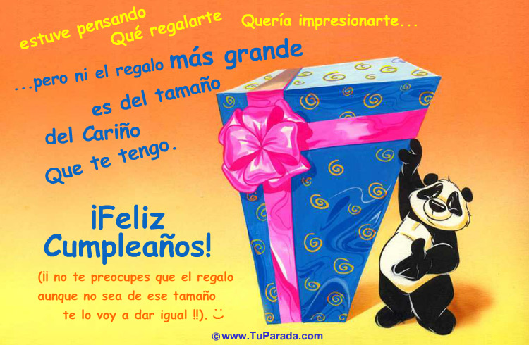 Tarjeta - Tarjeta con regalo de cumpleaños