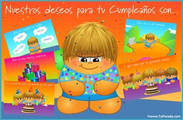 Tarjeta de deseos de cumpleaños