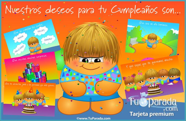 Tarjeta - Tarjeta de deseos de cumpleaños