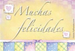 Muchas Felicidades