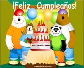 Feliz Cumpleaños de todo el grupo.