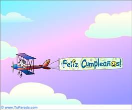Mensaje aereo de Cumpleaños
