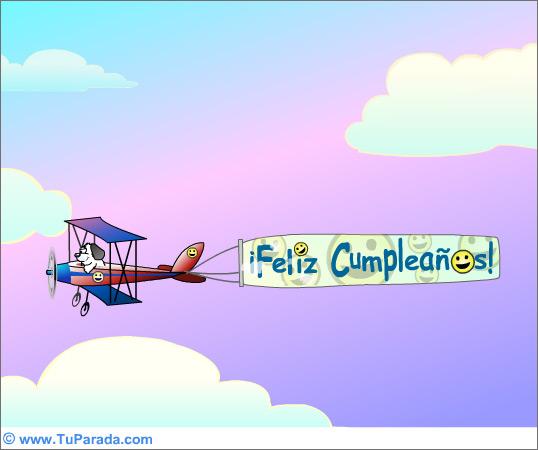 Tarjeta - Mensaje aereo de Cumpleaños