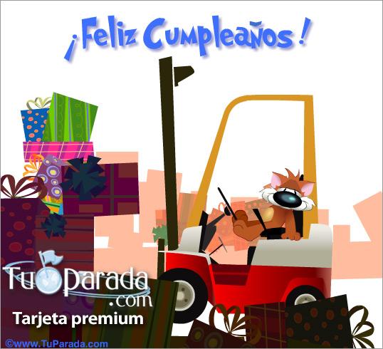 Tarjeta - Feliz Cumpleaños con regalos