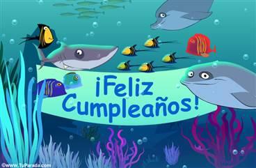 Tarjeta de cumpleaños desde el mar