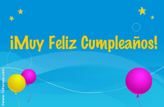 Tarjeta - Feliz Cumpleaños Turquesa.