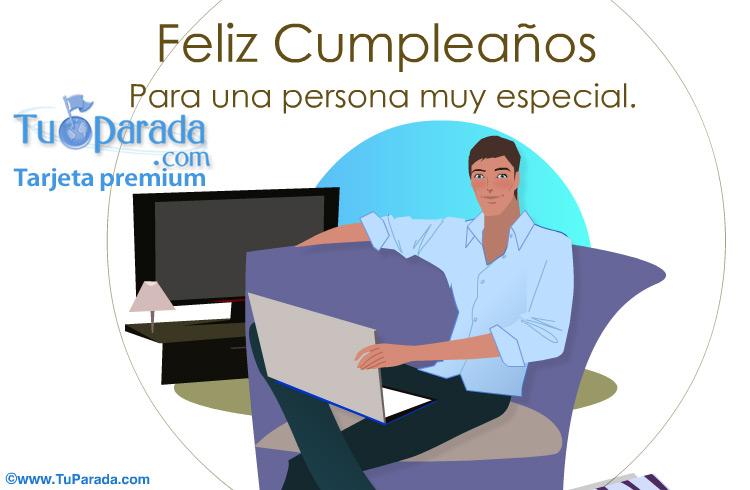 Tarjeta - Feliz Cumpleaños para alguien especial.
