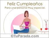 Feliz Cumpleaños para una persona especial.