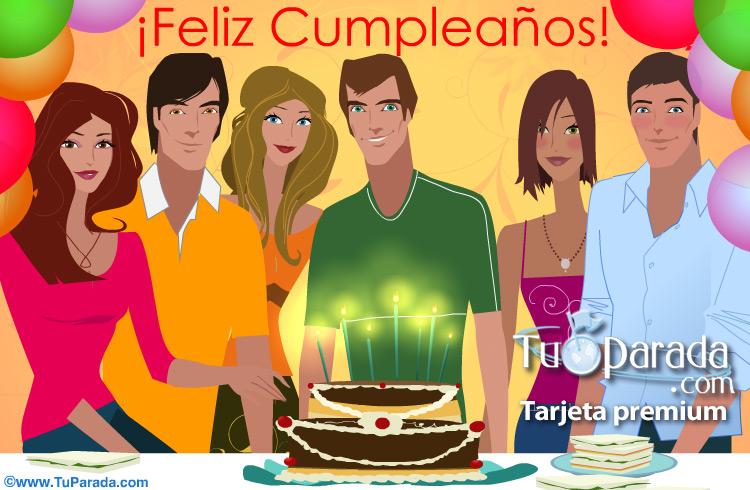 Tarjeta - Feliz Cumpleaños de grupo para varón.