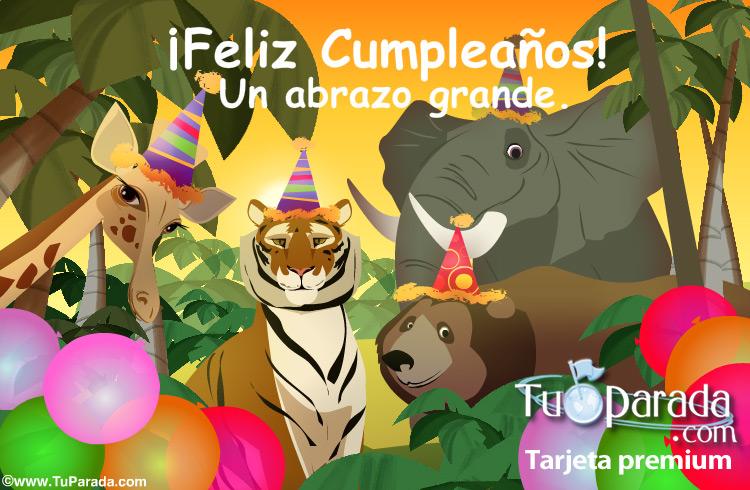 Tarjeta - Feliz Cumpleaños desde la selva.