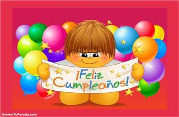 Un feliz cumpleaños bien grande.