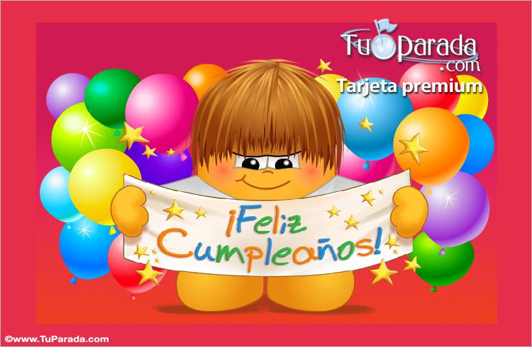 Tarjeta - Un feliz cumpleaños bien grande.
