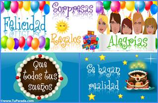 Todos los deseos en tu cumpleaños