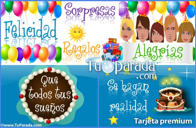 Tarjeta - Todos los deseos en tu cumpleaños