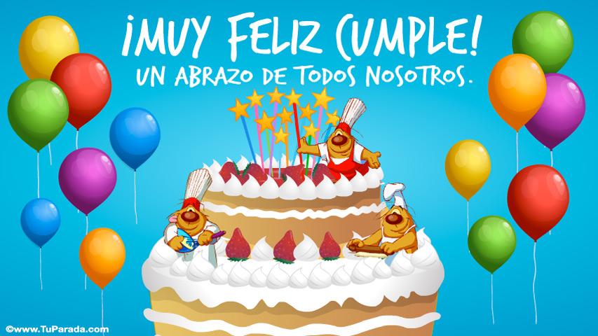 Tarjeta - Tarjeta de torta de cumpleaños