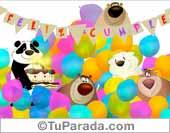 Tarjetas, postales: Cumpleaños de grupo