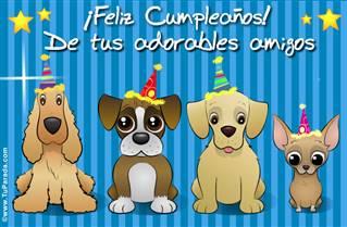 Feliz Cumpleaños con perritos