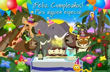 Feliz cumpleaños selvático
