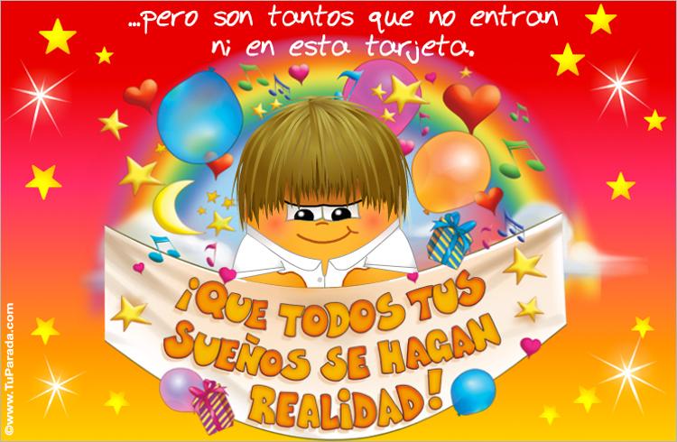 Tarjeta de cumpleaños Postal animada de cumpleaños, tarjeta virtual de felicidades, feliz