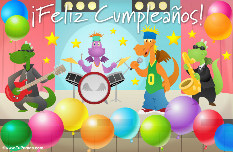 Tarjeta Con Banda De Rock Cumpleaños Tarjetas