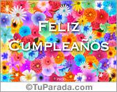 Tarjeta de cumpleaños con flores