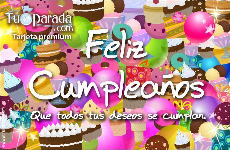 Tarjeta - Tarjeta festejo de cumpleaños