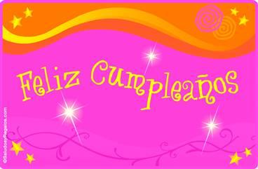 Tarjeta de cumpleaños multicolor