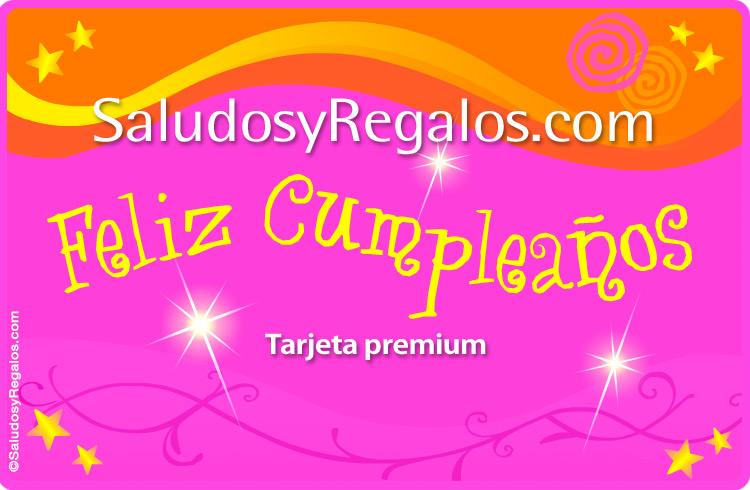 Tarjeta - Tarjeta de cumpleaños multicolor