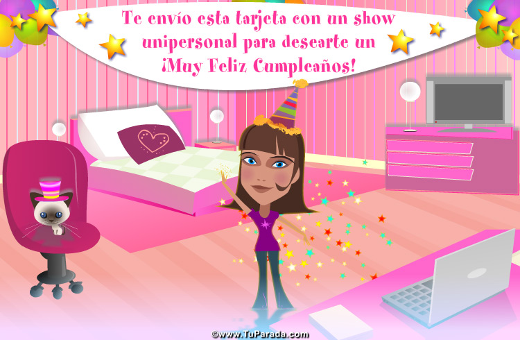 Tarjeta - Tarjeta de saludo de cumpleaños