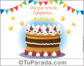 Tarjeta de torta de cumpleaños